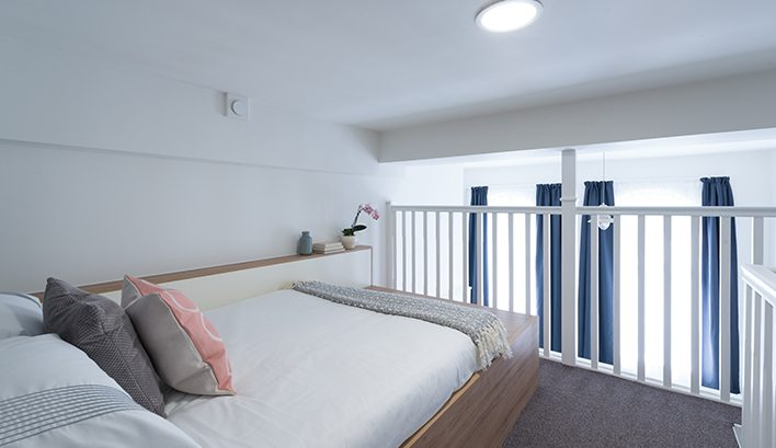 Our large mezzanine studio apartments to rent really are on a whole new level...